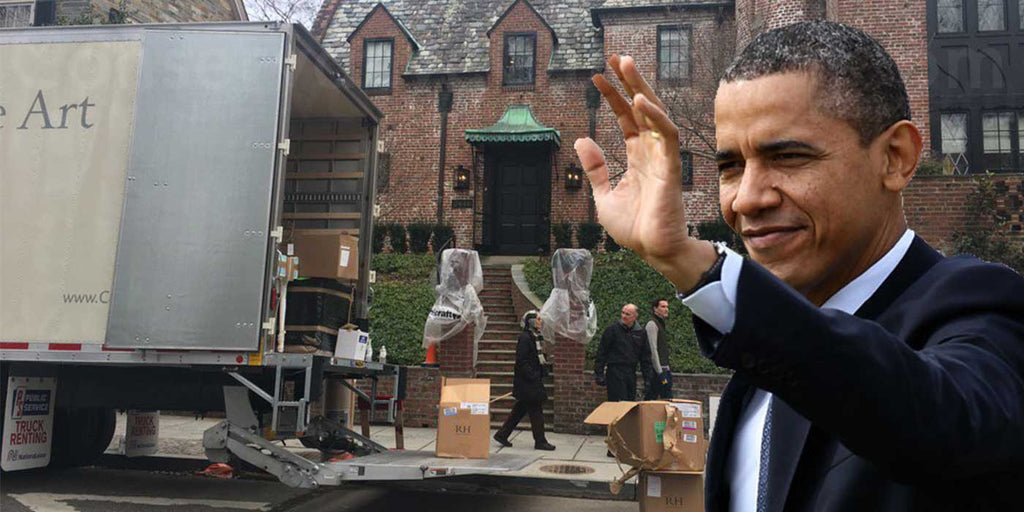 PHOTO: Moving Van Spotted Outside Obama's $5 Million Dollar Mansion