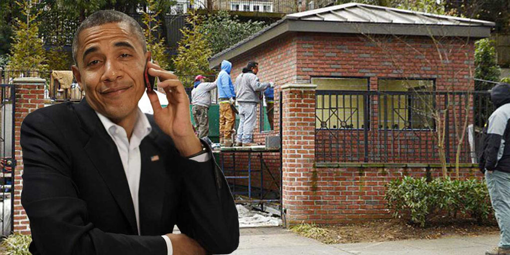 PHOTOS: Obama Builds Wall Around New Mansion (UPDATE)