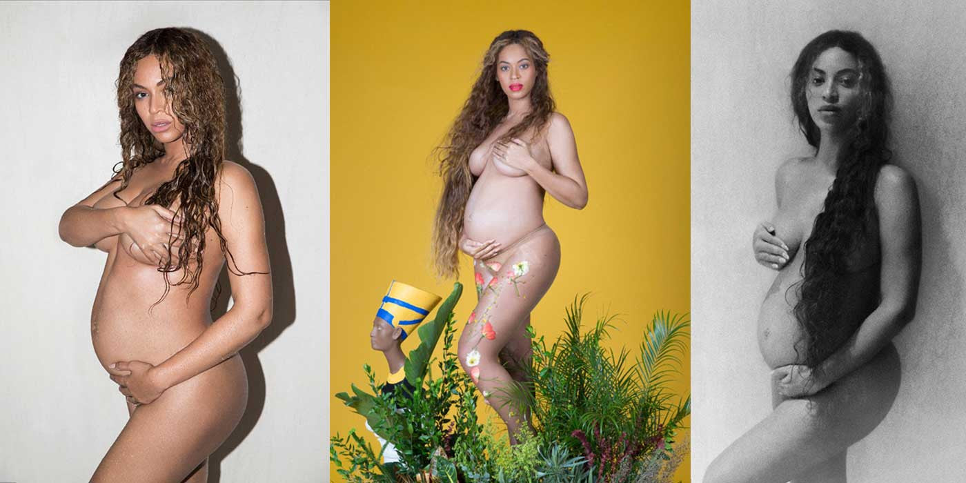 PHOTOS: Topless Beyonce shows off naked body to announce TWINS