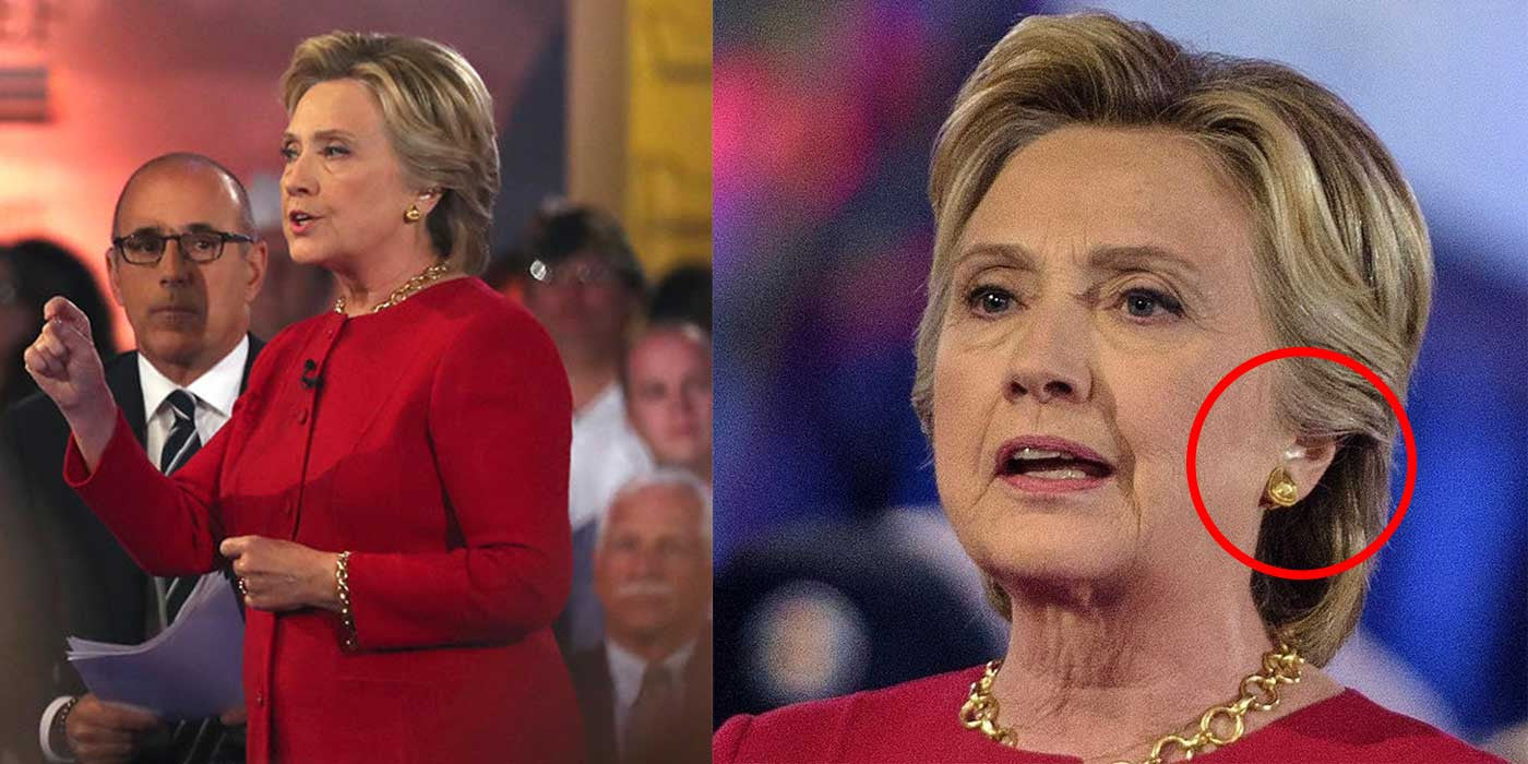 POLL: Did Hillary wear an earpiece during NBC's presidential forum?