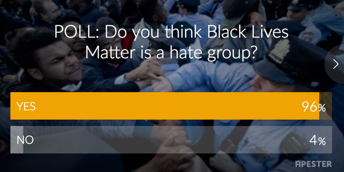 POLL RESULTS: Do you think Black Lives Matter is a hate group?