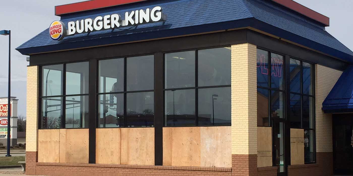 VIDEO: Burger King Employees Break All The Windows