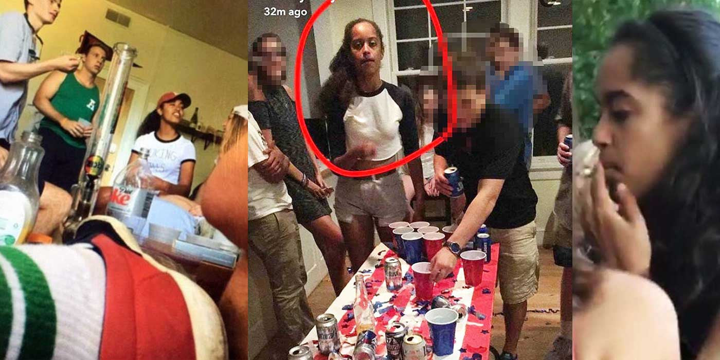 President Obama's Underage Daughter Caught Playing Beer Pong?