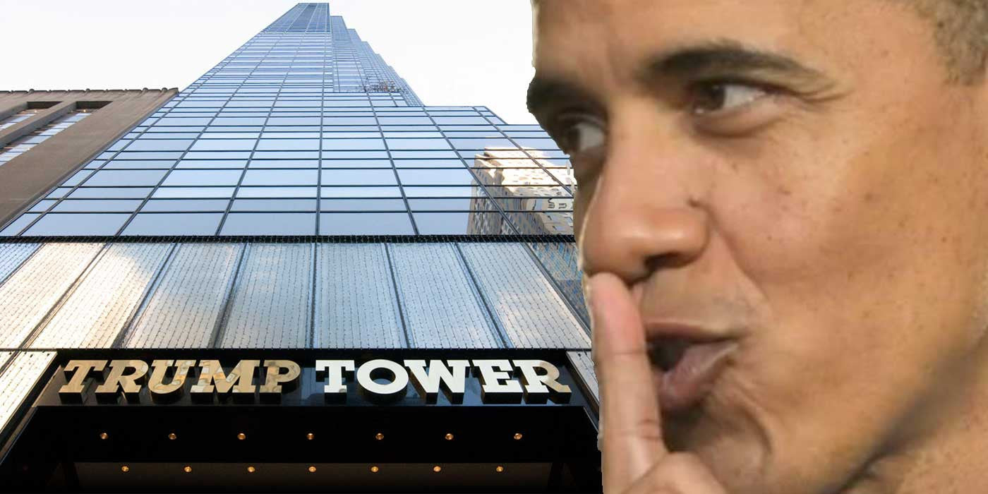 Image result for pics of obama bugging trump tower