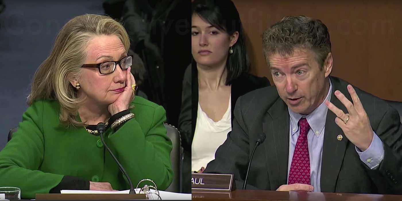 Rand Paul Grills Hillary Clinton At Benghazi Hearing