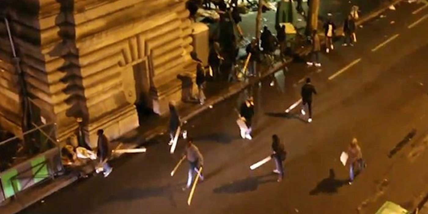 VIDEO: Chaos As Hundreds Of Refugees Riot In Paris