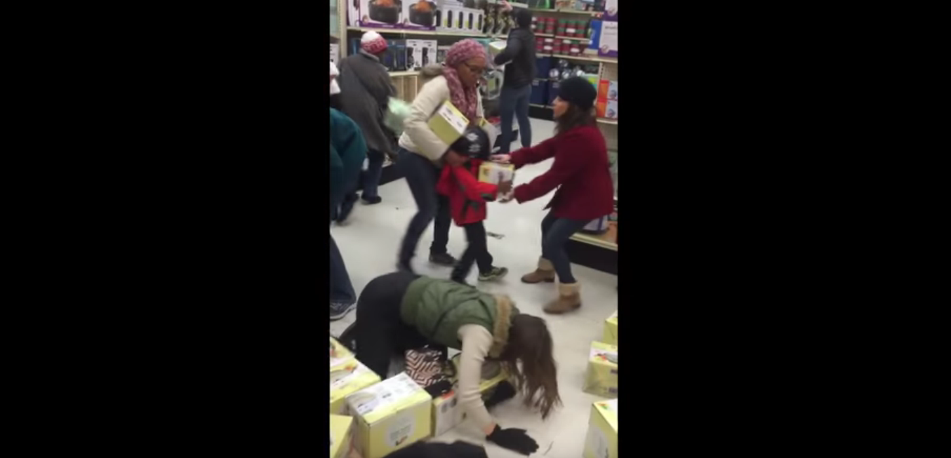 Lady Steals From Child Then Acts Like A Victim (BLACK FRIDAY 2015)