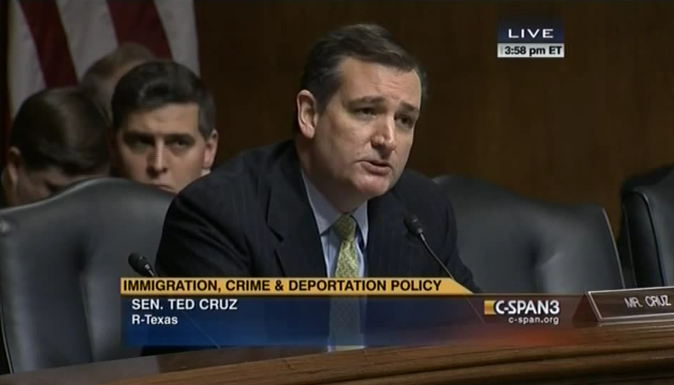 Cruz Asks ICE Director Why 12 Million Illegals Have Not Been Deported