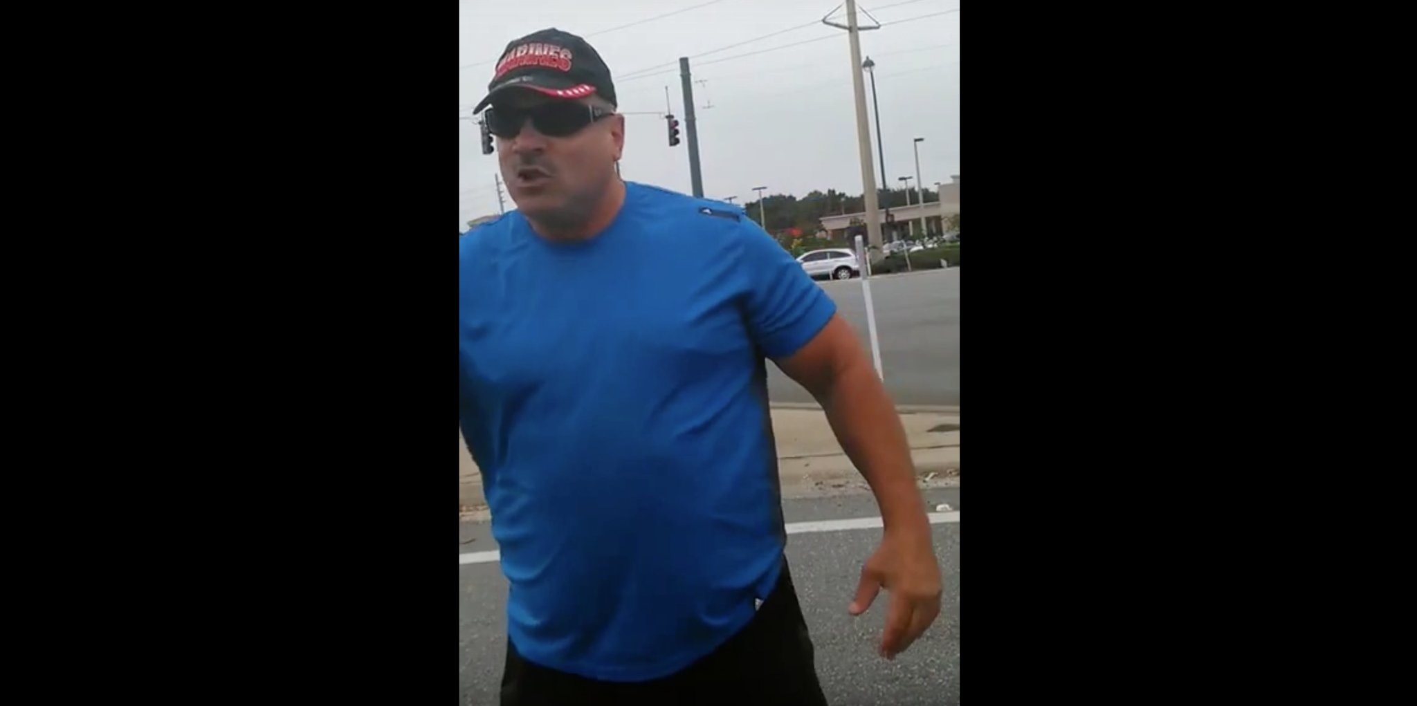 Former Marine Squares Up With Black Lives Matter Protestor (Video)