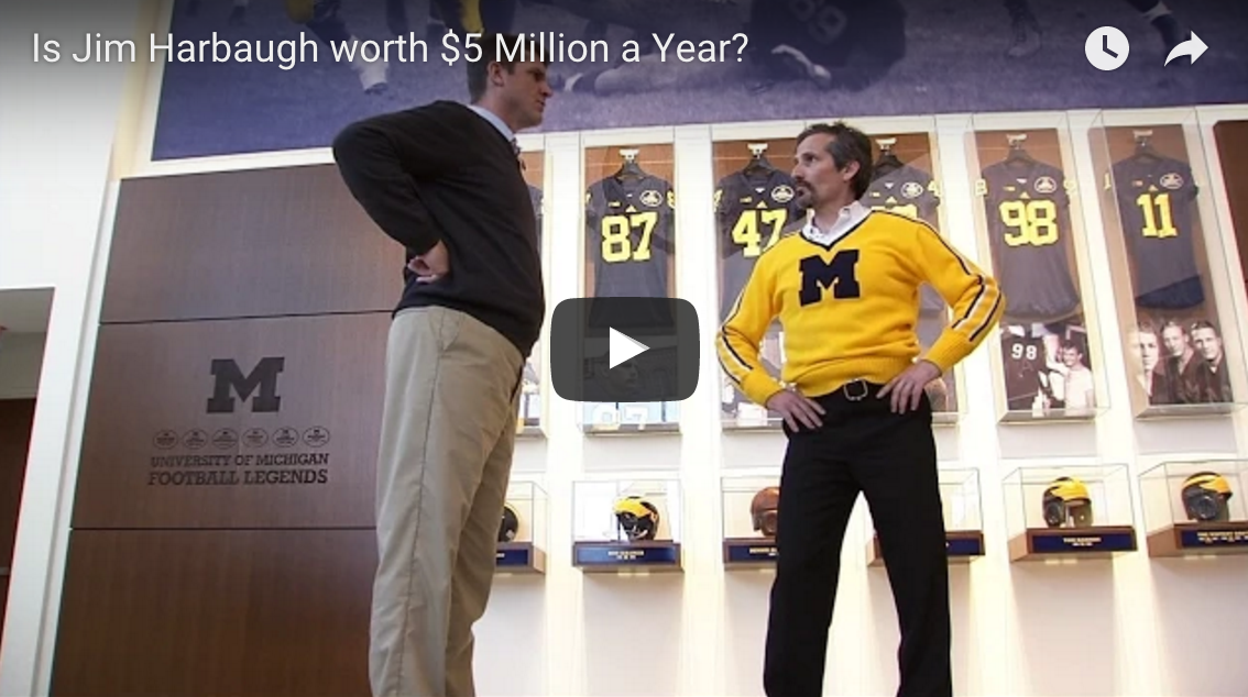 Is Jim Harbaugh worth $5 Million a Year? (Video)