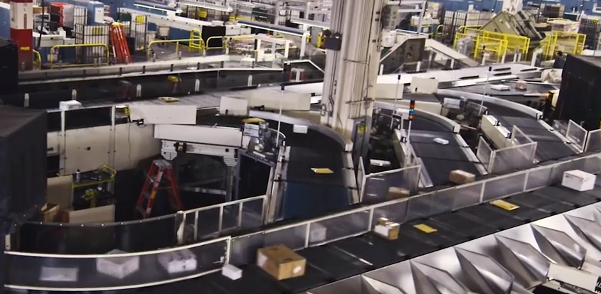 How the US Mail 'sorting' machine works (VIDEO)