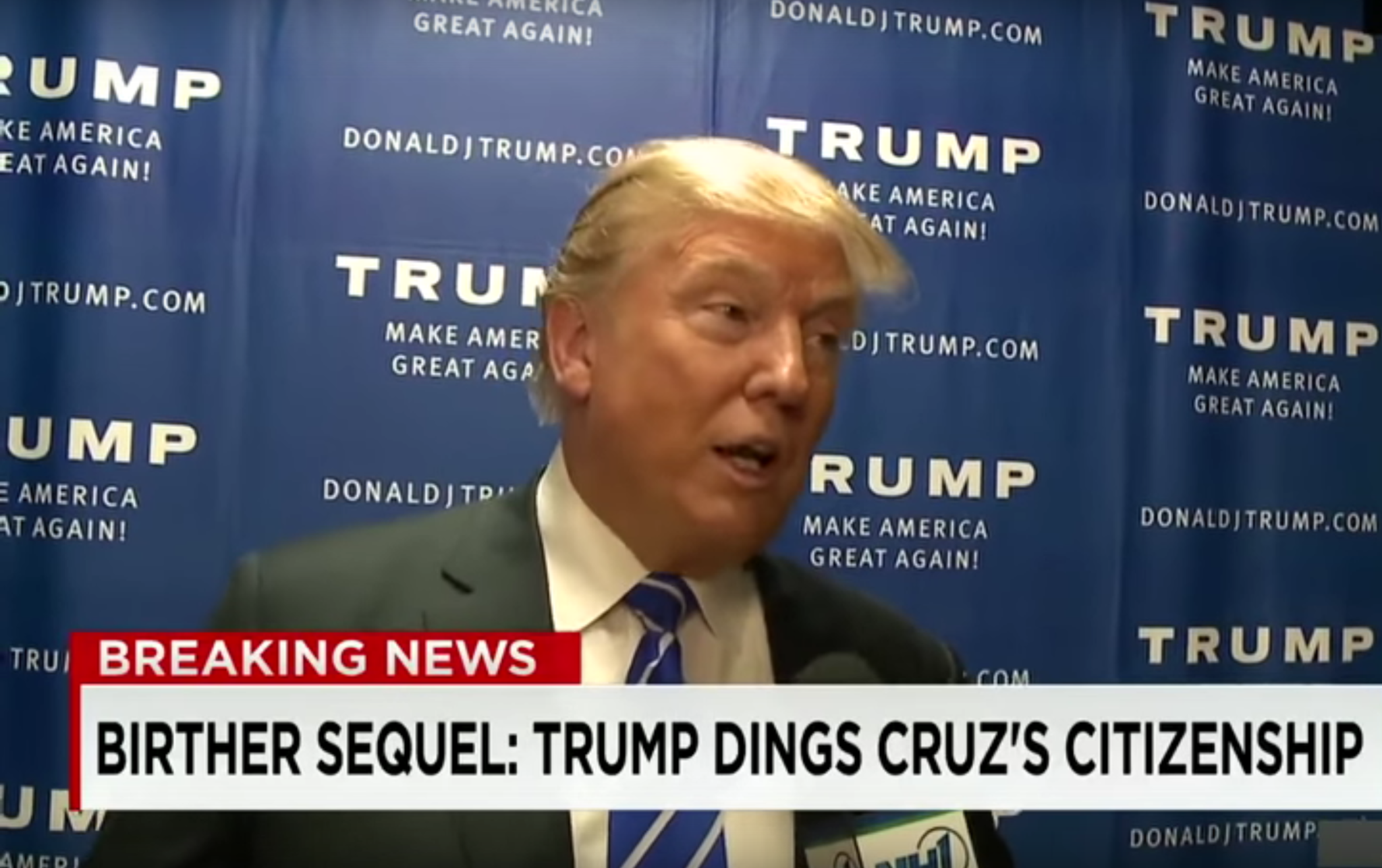 VIDEO: Donald Trump Questions Legal Status of Canadian Born Ted Cruz