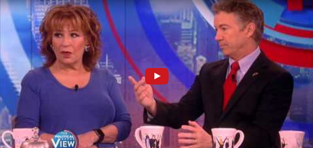 WATCH: Rand Paul educates 'The View' on Gun Control...