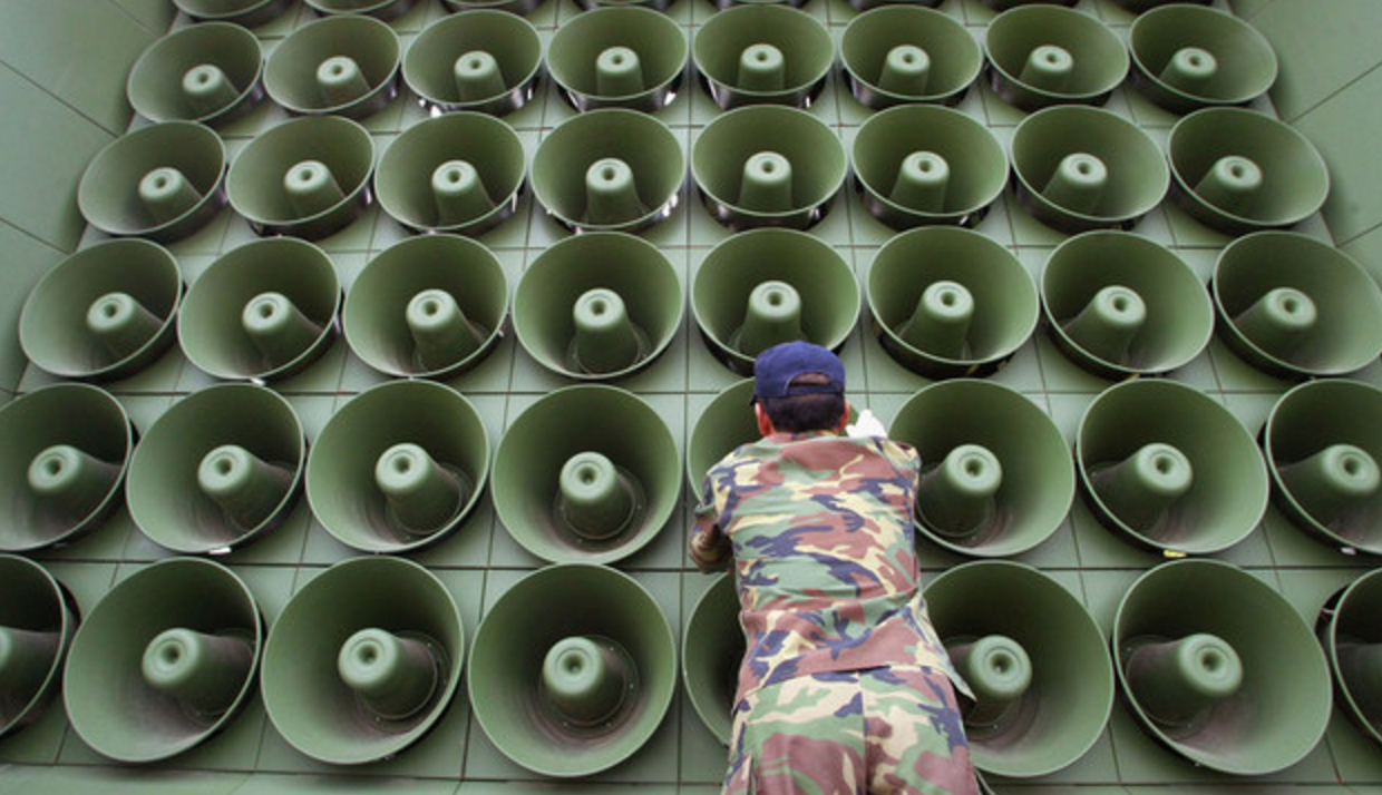 North Korea Threatens War After South Resumes Loudspeaker Broadcasts