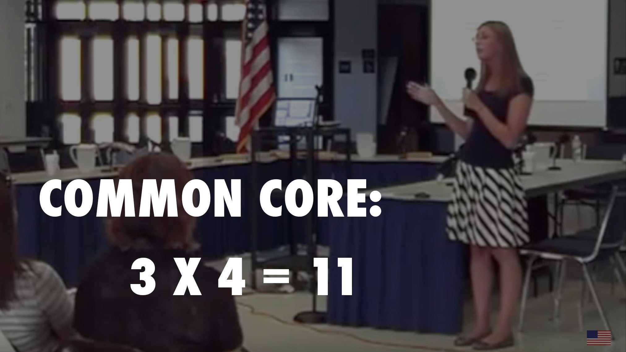 Video: School Official explains 3 x 4 = 11 under Common Core