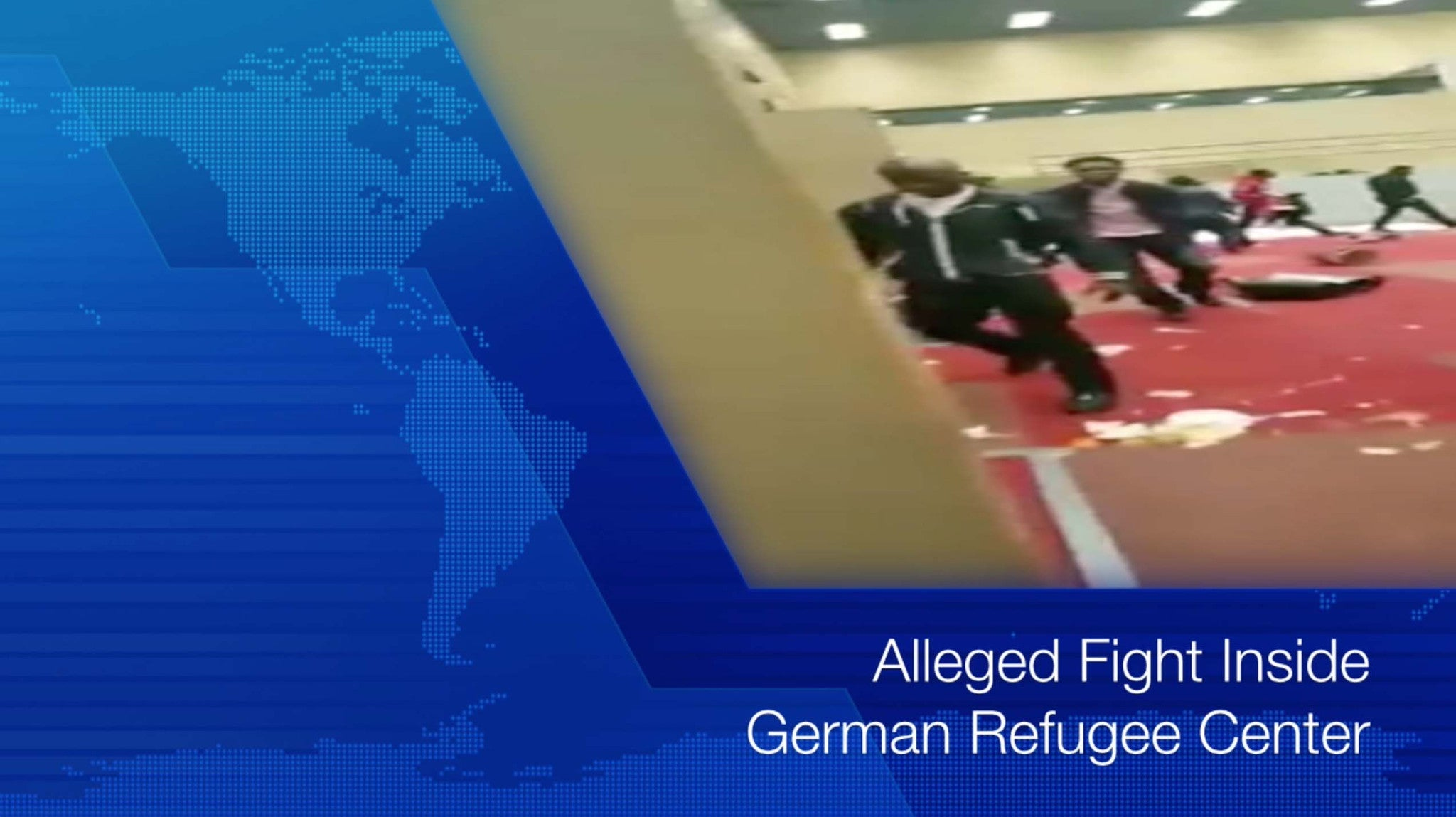 Fight at Refugee Center in Germany (Video)