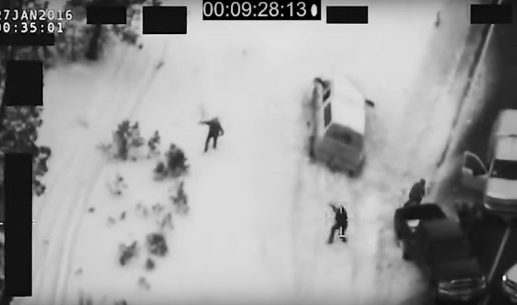 ENHANCED AND ZOOMED: LaVoy Finicum Shooting (FBI Drone Video)