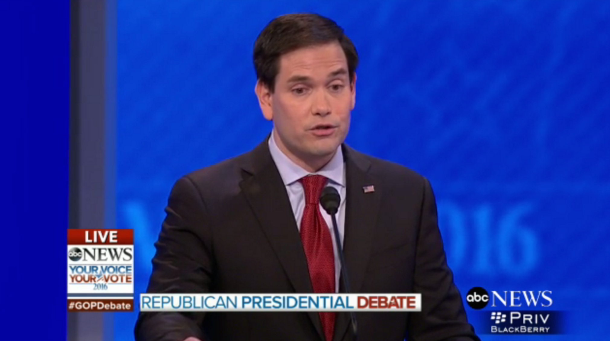 WATCH: Marco Rubio Repeats The Same Line Four Times