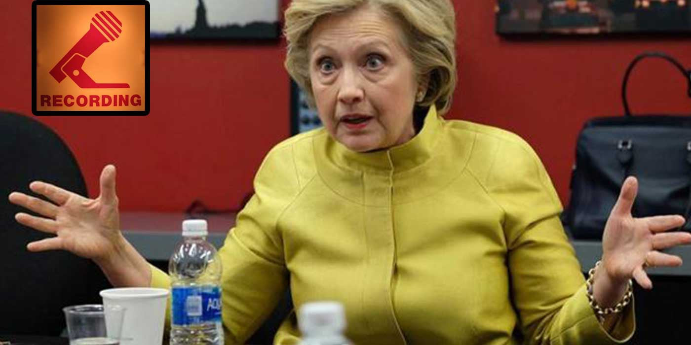 LEAKED AUDIO: Hillary Clinton Promises Gun Grab