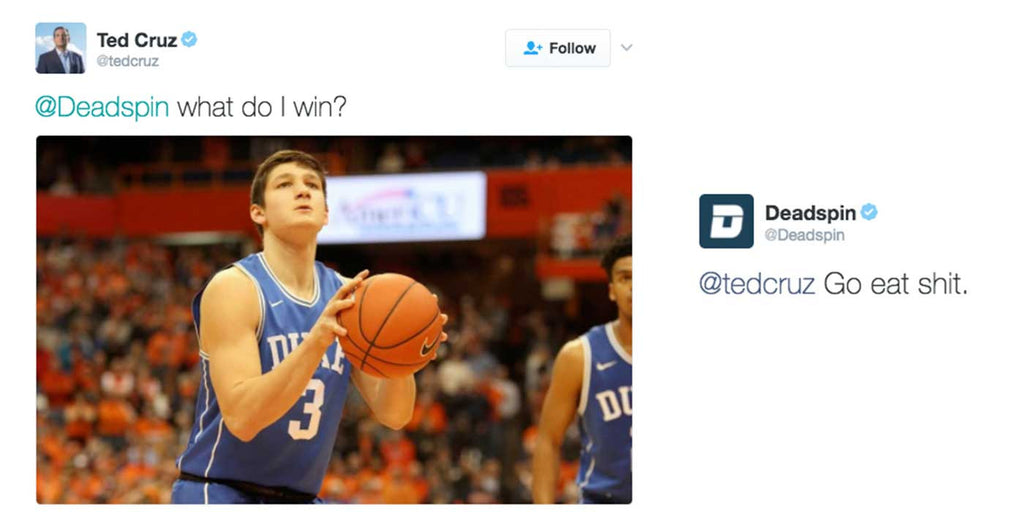 Ted Cruz wins Twitter war Vs. Deadspin