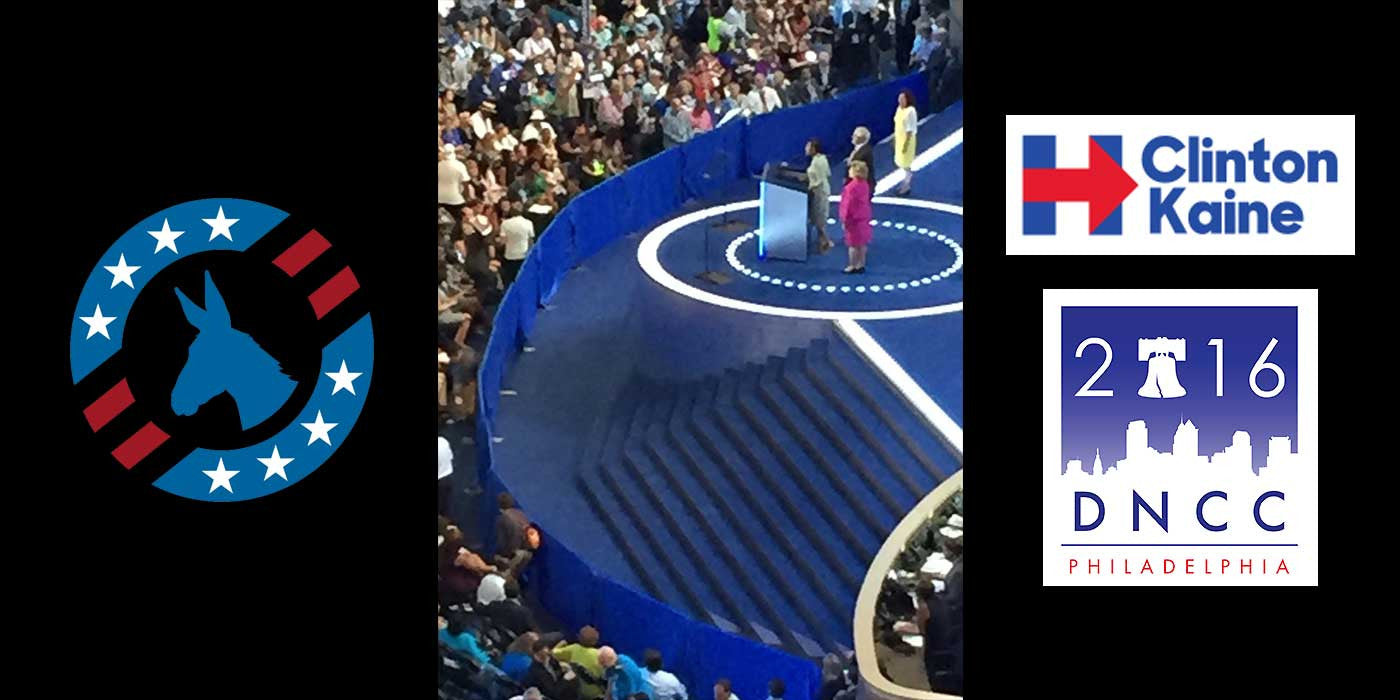 The Democrats Built A Wall Around The DNC Stage (PHOTO)