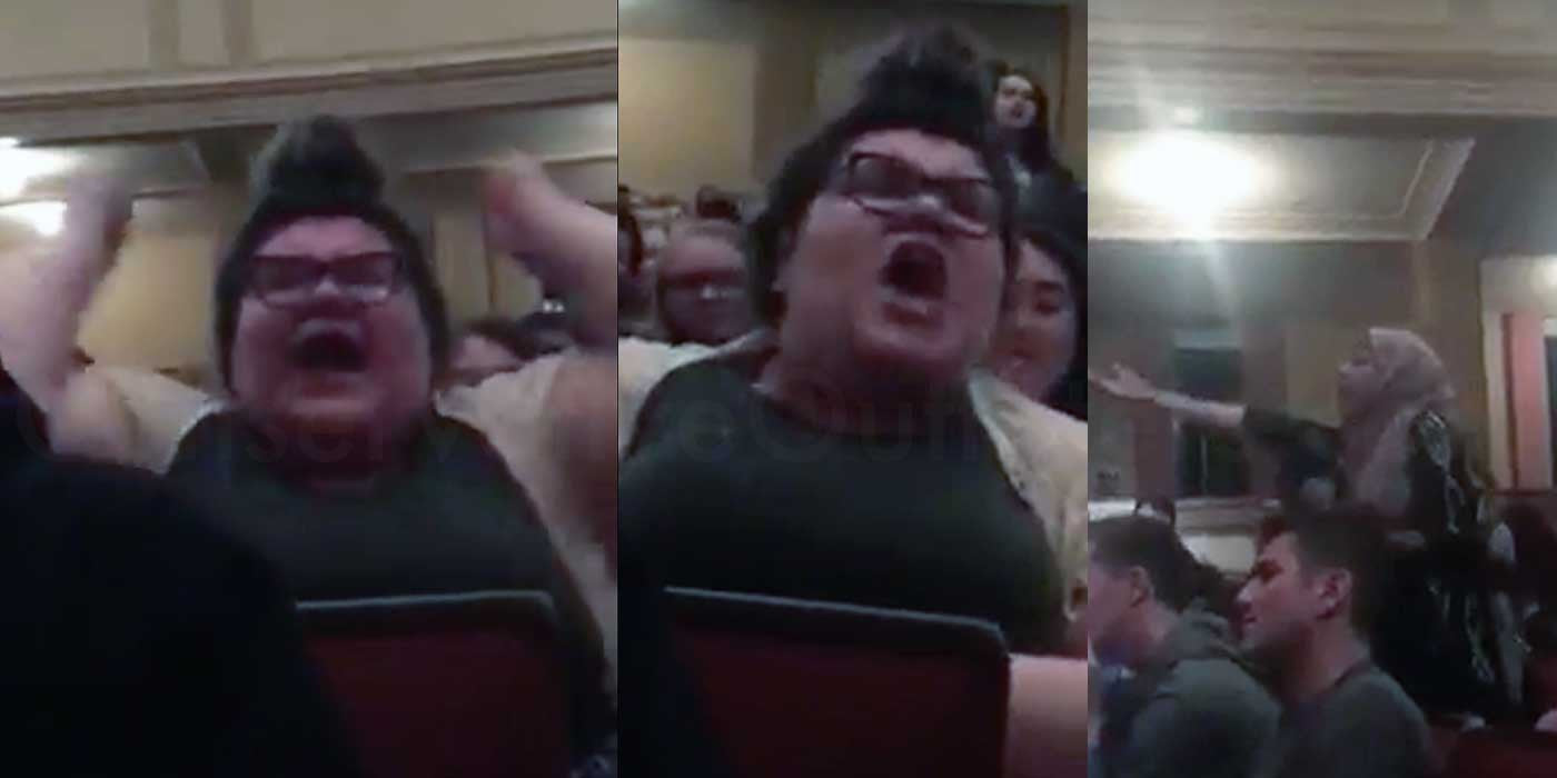 College Protester Loses Her Mind At Free Speech Event