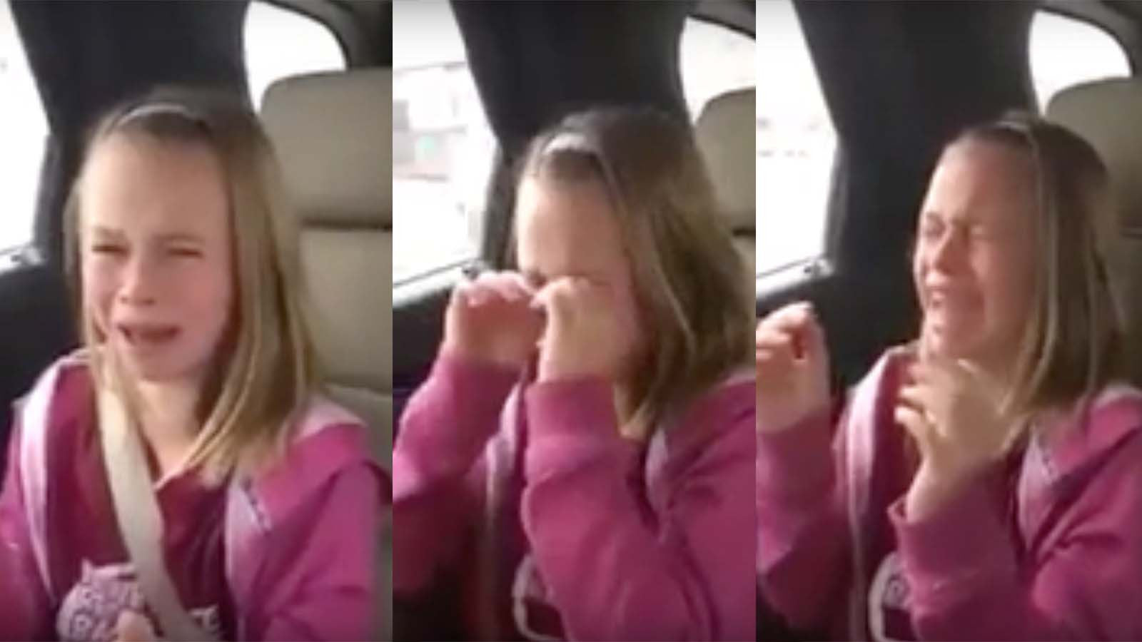 Donald Trump made this little girl cry...