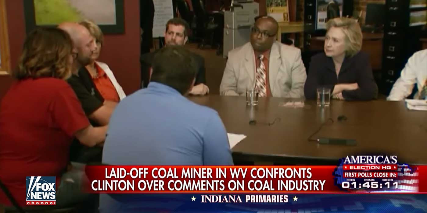 VIDEO: A Laid-Off Coal Miner Confronted Hillary Clinton