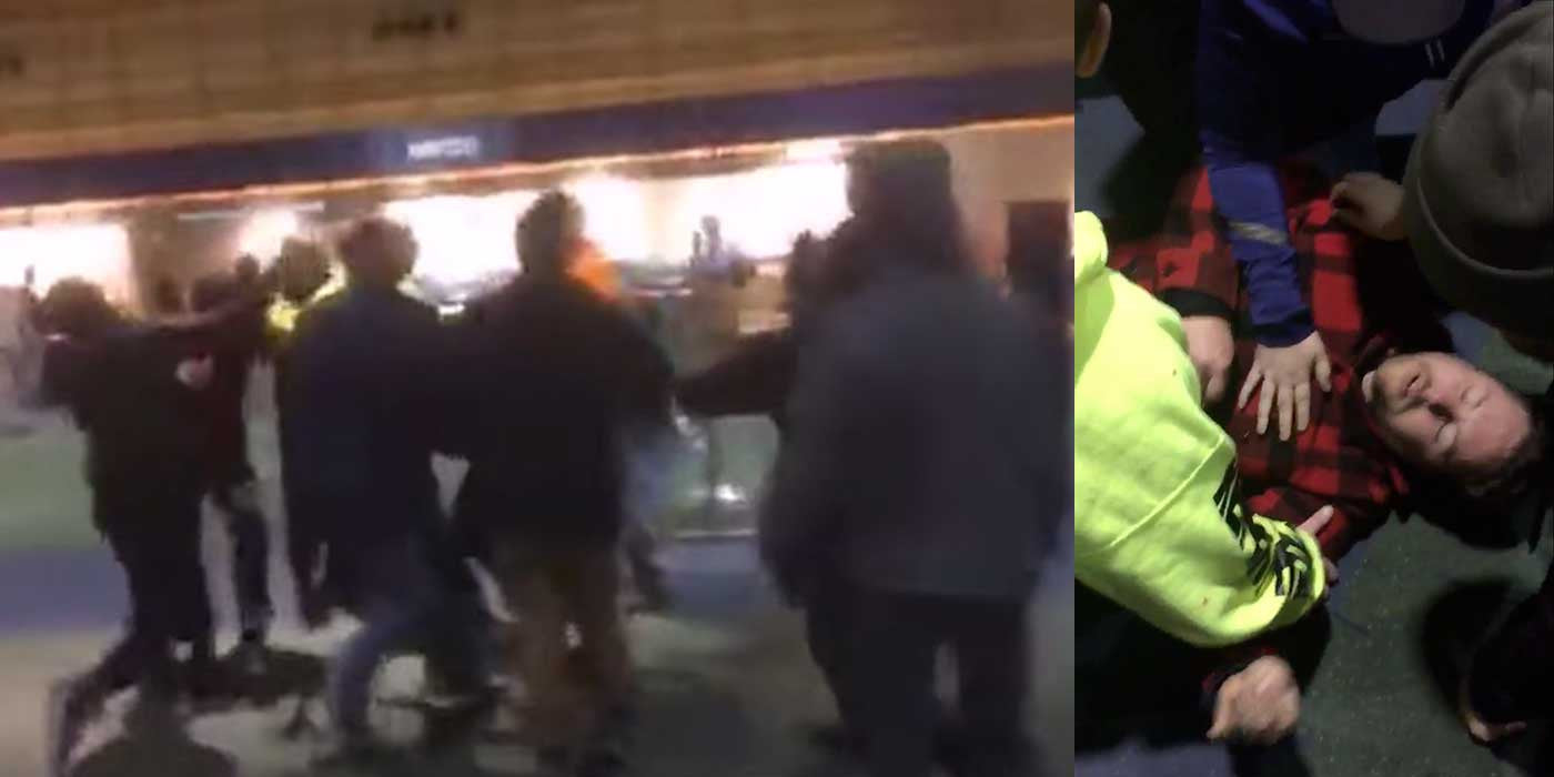 VIDEO: Anti-Trump protesters caught on camera attacking man at airport