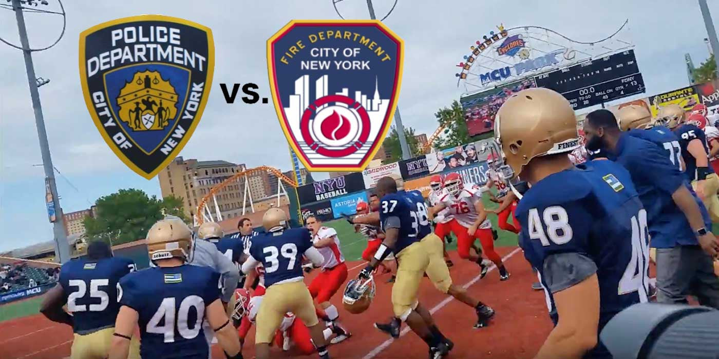 VIDEO: Bloody Fight Between NYPD and FDNY During Charity Football Game