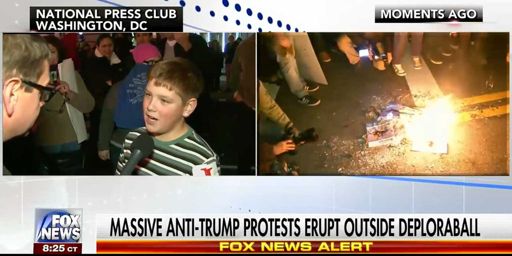VIDEO: Child Protester Starts Fire At Trump Inauguration Deploraball