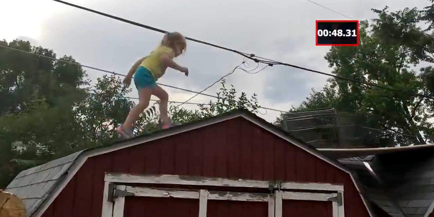 VIDEO: Dad builds AMAZING Ninja Warrior course for 5-year-old daughter