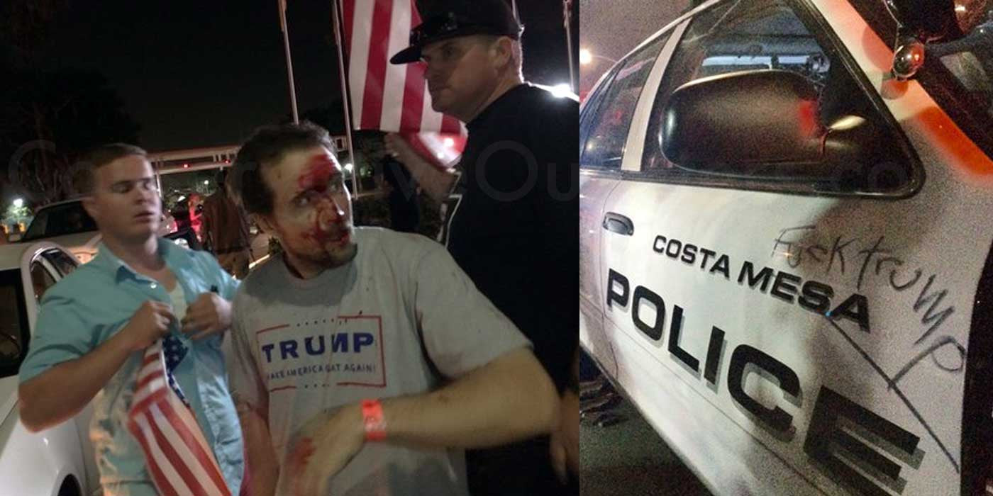 Image result for trump protest face trump supporter