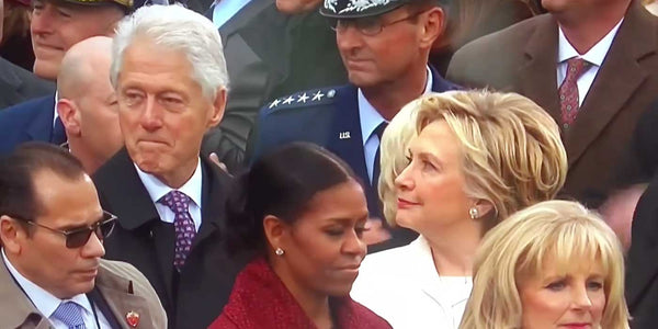 VIDEO: Hillary catches Bill Clinton staring at Ivanka Trump