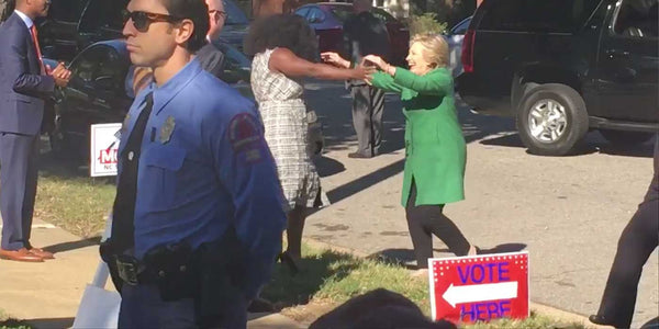 VIDEO: Hillary caught on camera breaking North Carolina election laws?
