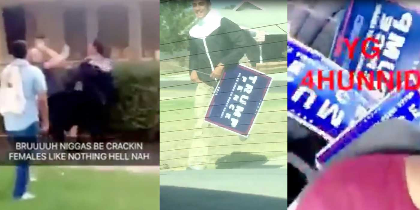 VIDEO: Hillary supporters violently beat woman over Trump yard sign