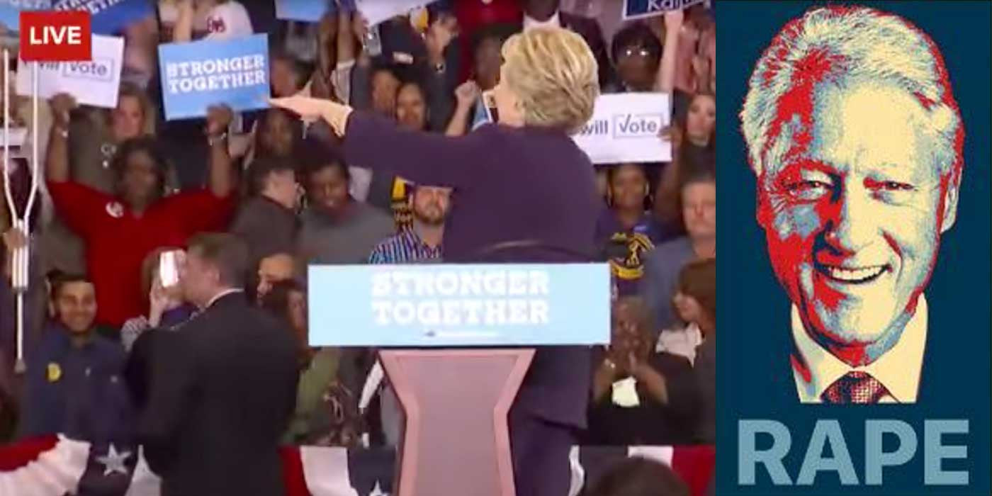 VIDEO: Hillary tells supporters to follow that rape protester!