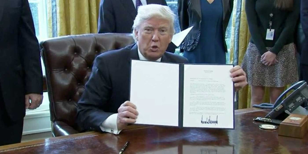VIDEO: President Trump Signs Executive Order For DAPL and Keystone XL