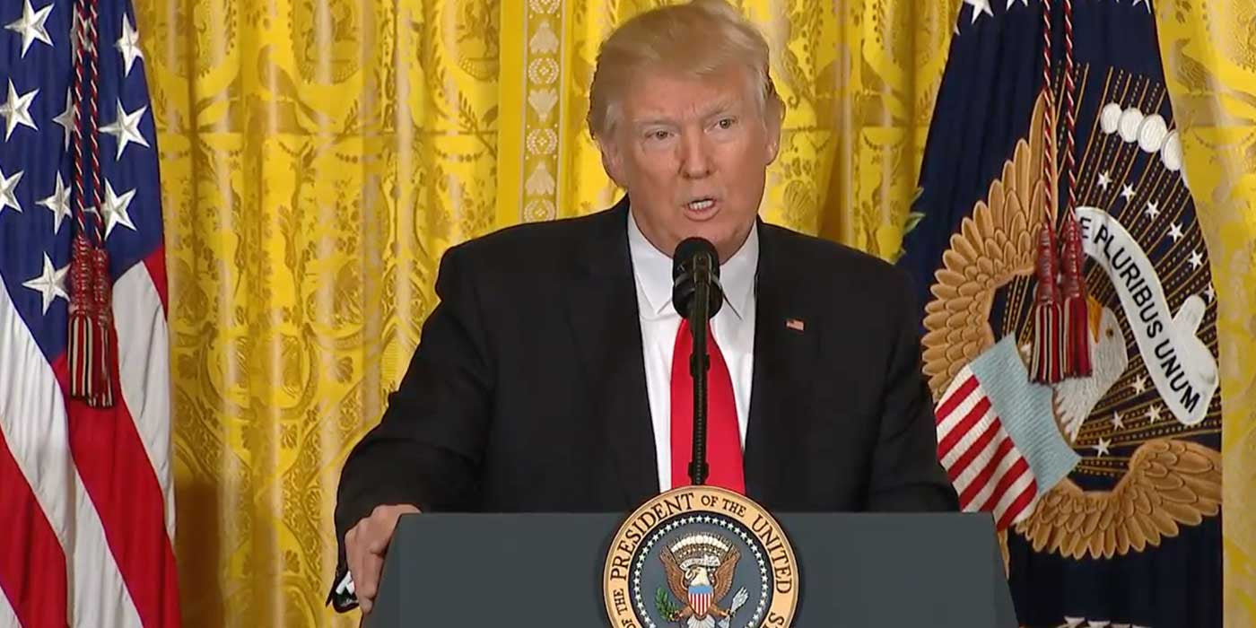 VIDEO: President Trump VS. CNN Reporter During Press Conference
