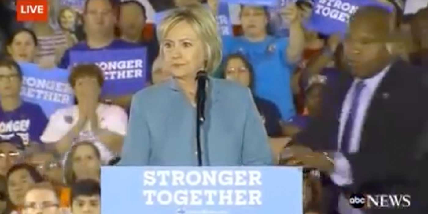WATCH: Hillary Clinton Flustered By Protesters At Vegas Rally (VIDEO)
