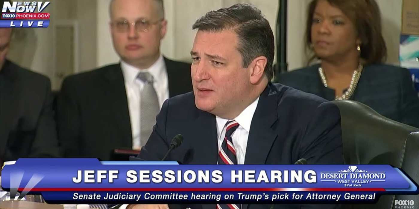 VIDEO: Ted Cruz Goes Off On Democrats At Jeff Sessions Hearing