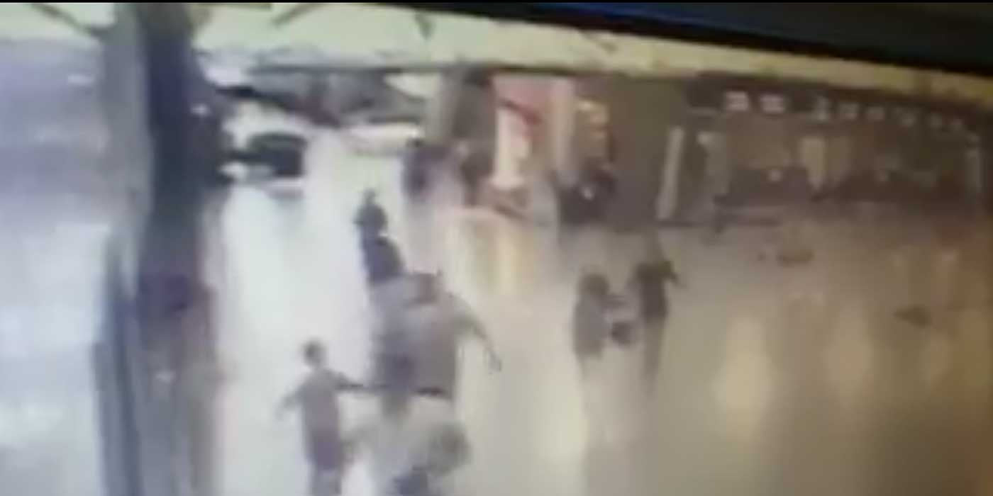 VIDEO: Terrorist Detonates Suicide Bomb After Being Shot At Airport