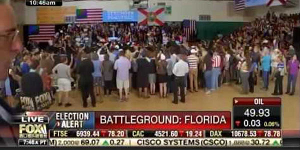 VIDEO: The size of Hillary Clinton's rally vs Donald Trump's rally