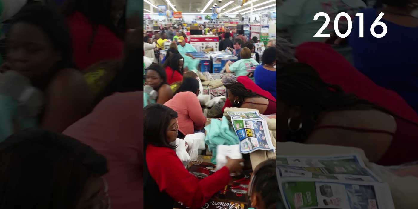 VIDEO: Walmart Shoppers Fight Over Towels (Black Friday 2016)