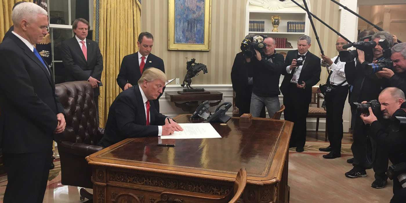 VIDEO: Watch President Donald Trump Sign Executive Order on Obamacare