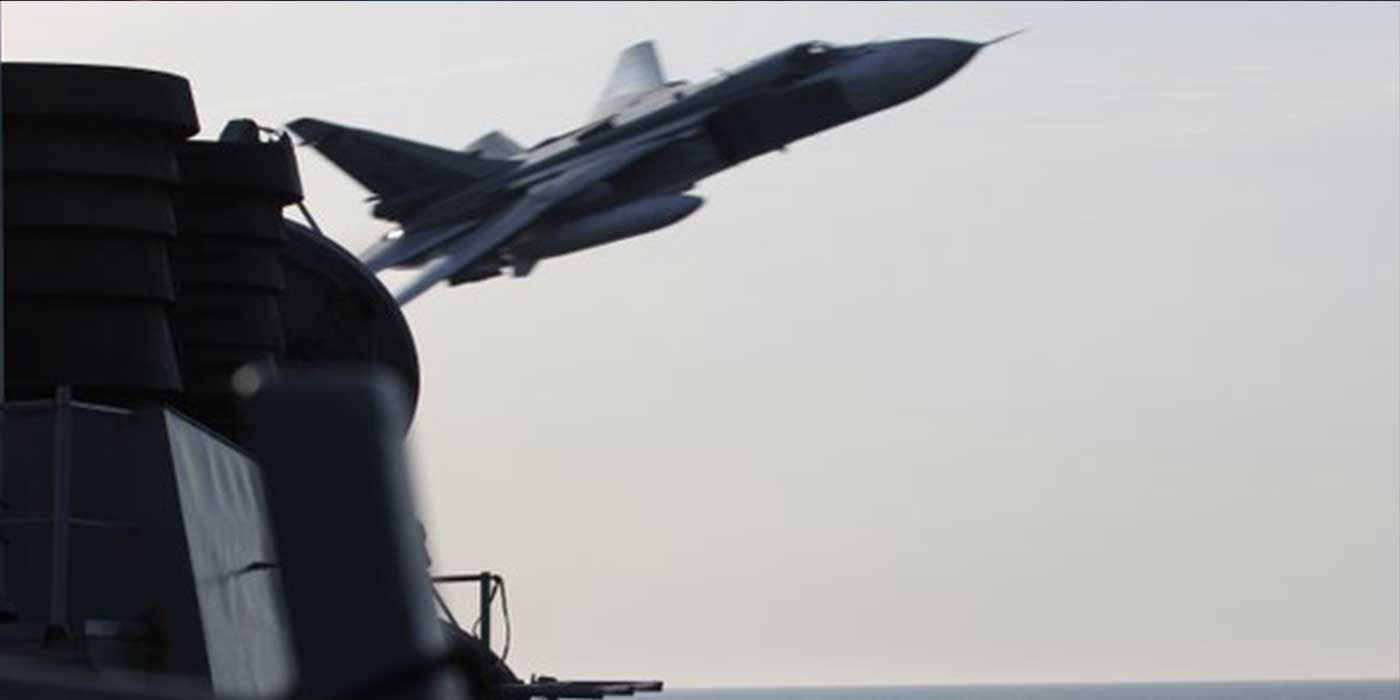 VIDEO: Russia Buzzes U.S. Navy Destroyer Within 30 Feet