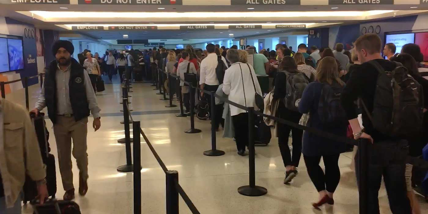 You Won't Believe How Long The TSA Line Is In Chicago