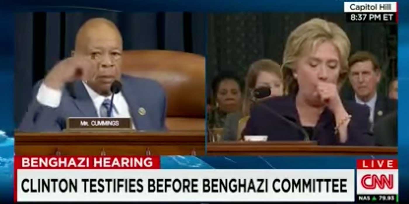 Video of Hillary Clinton's violent coughing fit during Benghazi hearing