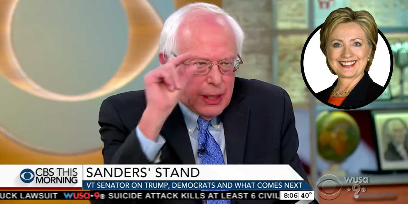 WATCH: Bernie Unloads On Hillary... Blames Her For Loss (VIDEO)