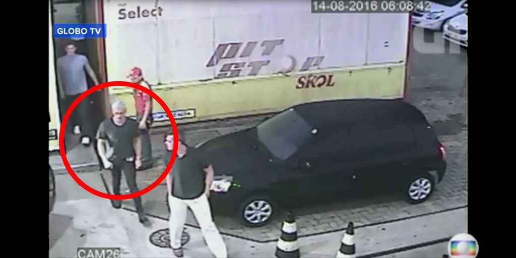 "WATCH: Brazilian Police Release CCTV Video Of Ryan Lochte's ""Robbery"""